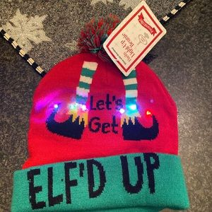 New light up new Christmas hat Let's  get elf'd up